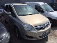 Vauxhall Zafira 1.6 i 16v Exclusiv 5dr£1,985 p/x welcome NEW MOT . GOOD RUNNER
