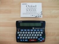 Seiko Oxford electronic crossword solver ER3700