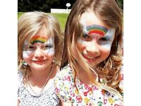 Flutterbye Faces ~ face painter & glitter artist- Professional, insured. Parties, events & festivals