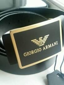 Giorgio armani leather belt