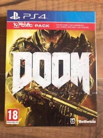 doom & ulc dlc pack , brand new & sealed , ps4 ! price stands , no offers ! will post !