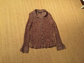F&F LONG SLEEVED BLOUSE - VGC - SIZE 12
