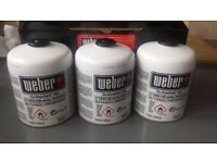 3 Weber Disposable Gas Canisters NEW