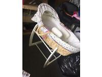 Mamas and papas wooden swinging crib
