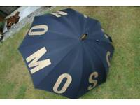 Genuine & Authentic Moschino Tall Umbrella - Collection from nr CROMER