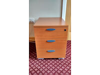 Office drawer set (under-desk) with three drawers