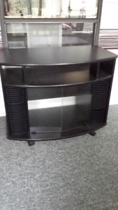 NEW PRICE MUST SELL BLACK T.V. STAND