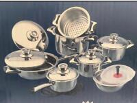 BRAND NEW - 16 Piece Titanium Cookware Set