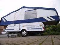 PENNINE FOLDING CAMPER WITH TOILET, ONLY 950KG trailer tent