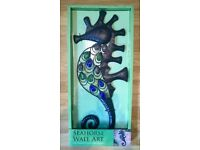 Brand new Seahorse wall art suitable for indoor or outside use now reduced to £7