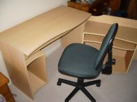 Workdesk 2 piece unit, 1 static base and other roles out