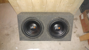 "Two 12"" power base subs"