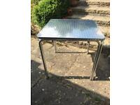 Aluminium patio cafe tables stacking - £7.50 each (4 available)