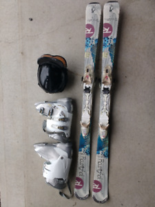 Womans Ski Package, Skis, Boots, Helmet & Goggles