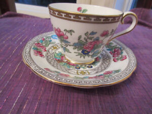 Stunning Aynsley Cup & Saucer - Indian Tree MINT condition.