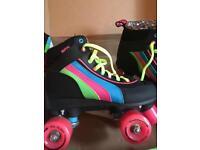 Rio retro 80's style roller boots size 4