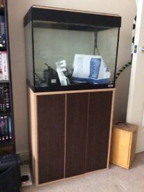 Fluval Roma 90L Aquarium with Cabinet and Accessories
