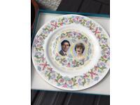 Coalport Royal wedding plate - Charles & Diana