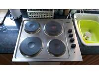 Electric hob stainless steel