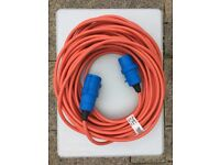 25m mains hook up cable for camping, caravan or motorhome. Never used since bought new.