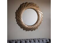 New gold mirrors from £49 - £499