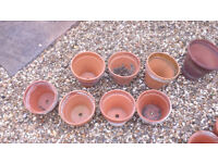 Approx 105 Clay Plantpots