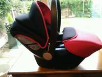 EX. CONDITION..SILVER CROSS CAR SEAT FOR NEWBORN+ BABYBJORN CARRIER