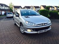 PEUGEOT 206 1.1 ZEST 3 2005 ***1 YEARS MOT*** FULL SERVICE HISTORY ***ONLY 61000 MILES ***