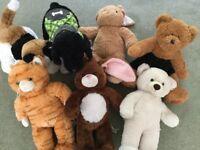 Massive bundle of build a bear soft toys, clothes, accessories, kennel, basket etc