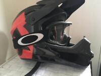 Full face mountain biking/BMX helmet.
