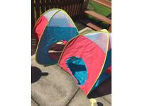 2x pop up play tent