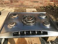 Neff five ring gas hob. Electric ignition. Good working order.