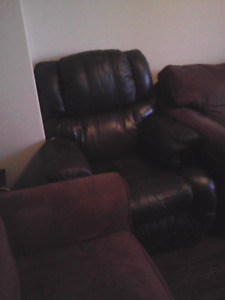 2 Recliners  and 2 double size plush chairs, one office chair