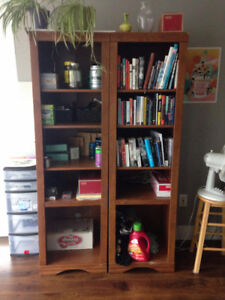 Mint condition wooden book cases