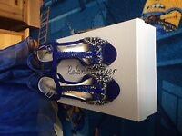 Roland Cartier Blue Wedding Dress Shoes