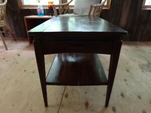 One solid wood end table by Hierloom  of Canada Ltd. Chesley, ON