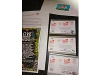 Love Summer Festival tickets for sale plus camper/caravan pass. Only two available. Bargain £80 ono