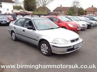 1997 (R Reg) Honda Civic 1.5I LS 4DR Saloon SILVER + LOW MILES
