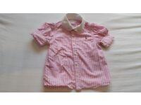 Polo Ralph lauren pink strippy shirt