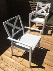 Threshold -Afton X-back Patio Dining Chair (White)