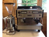 Gaggia espresso coffee machine and Mazzer Luigi Super Jolly grinder