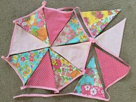3M Pink Floral Doublesided Bunting.