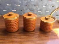 Hornsea 'Saffron' jam/condiment jars