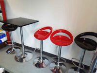 High Chairs/Stools and tables to suit. Suitable for kitchen or Cafe