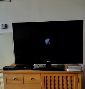 A big black LG TV