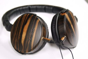 LNIB ZAGG Premium Ebony Wood Headphones