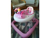 Baby walker bright stars pink