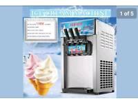 Three flavours ice cream machine