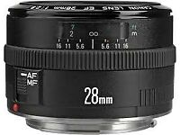 Canon EF 28MM F2.8 FAULTY