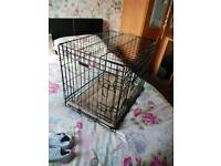Small dog cage with blanket cushion. Immaculate